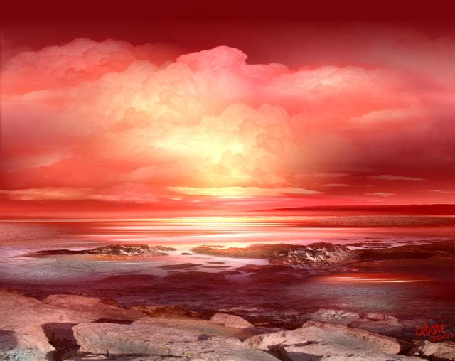 Image - Soleil rouge aubagne ...